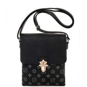 ✨Modern Pattern Crossbody Messenger Bag.Grey/Black
